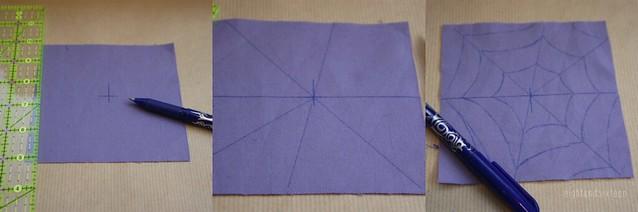 cobweb coasters diy halloween crafts sewing quilting spiderweb