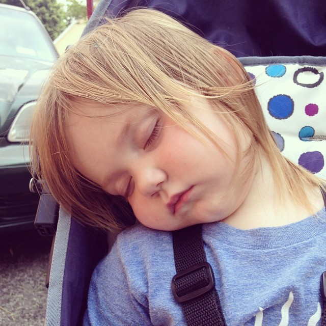 She zonked so hard between playgrounds 1 and 2 that we walked right past 2 to go home.