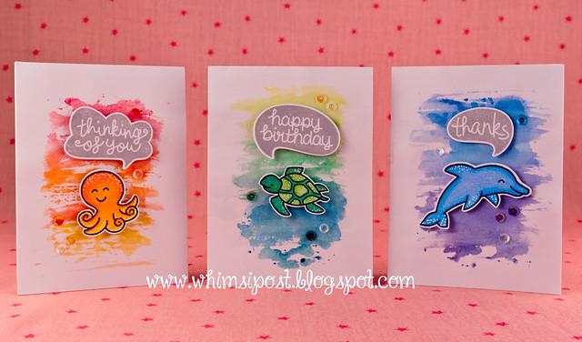 Watercolor Card Set