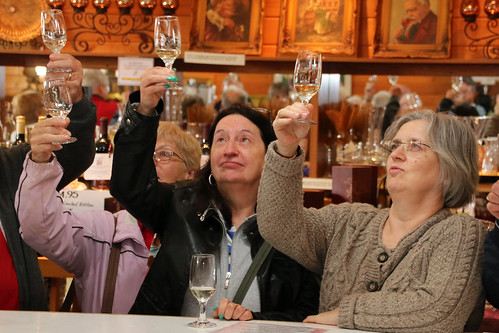 Women at a wine-tasting