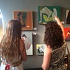 Look at that! The gallery was packed at our Jamie Chase opening last night, so we took the opportunity to sneak some art watching candids. Check them out on the PHOTOS section of our website! #art #artgallery #behindthescenes #gallerylife #artlovers #artg