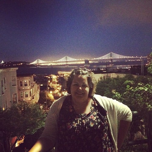 Bay Bridge from a tiny hidden garden at the top of a very very steep hill. #sanfrancisco #kategoestocalifornia