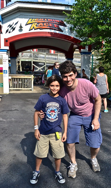 uncle and nephew fun - Hershey Park PA USA