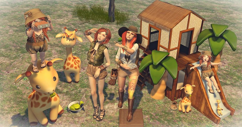 "Amelie et les petites: Episode ""Safari Adventure"" - Mommy I still can´t see mama giraffe head"