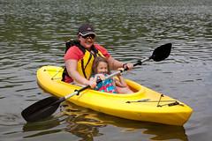 Tawnya and Juliana in Kayak