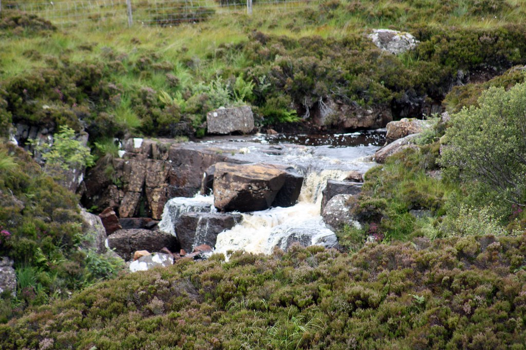 Highlands road waterfall