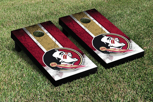Florida State University FSU Seminoles Cornhole Game Set Vintage