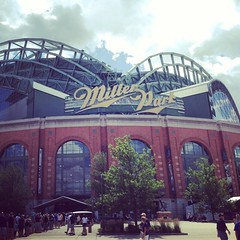 #MillerPark with the family for some #baseball ... The line to get in is insane. Thought I saw everyone tailgating in the parking lot.