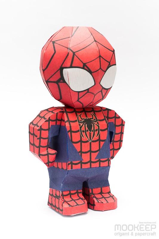 วิธีทำของเล่นโมเดลกระดาษสไปเดอร์แมน (Spiderman Papercraft Model) 002