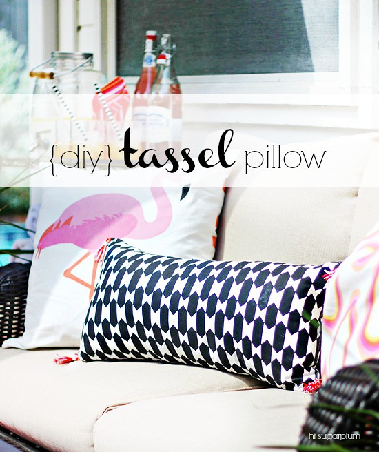 Hi Sugarplum Diy Tassel Pillow