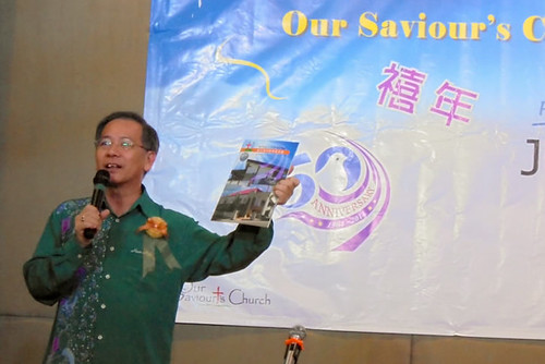 Our Saviour's Church 50th Anniversary - Bp Moon Hing making his speech