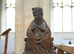 bench end (possibly a Saint)