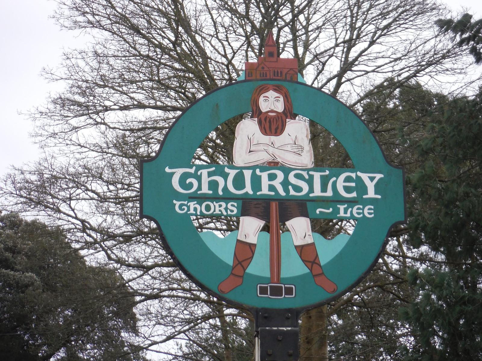 Thursley Village Sign SWC Walk 144 Haslemere to Farnham