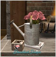 DD Pink Roses Watercan Deco Vendor