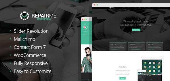 RepairMe WordPress Theme free download