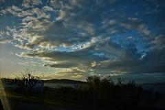 a darening sky