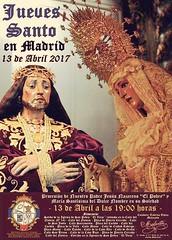 """Cartel Semana Santa 2017 Hermandad de Jesús """"El Pobre"""" #Madrid"""
