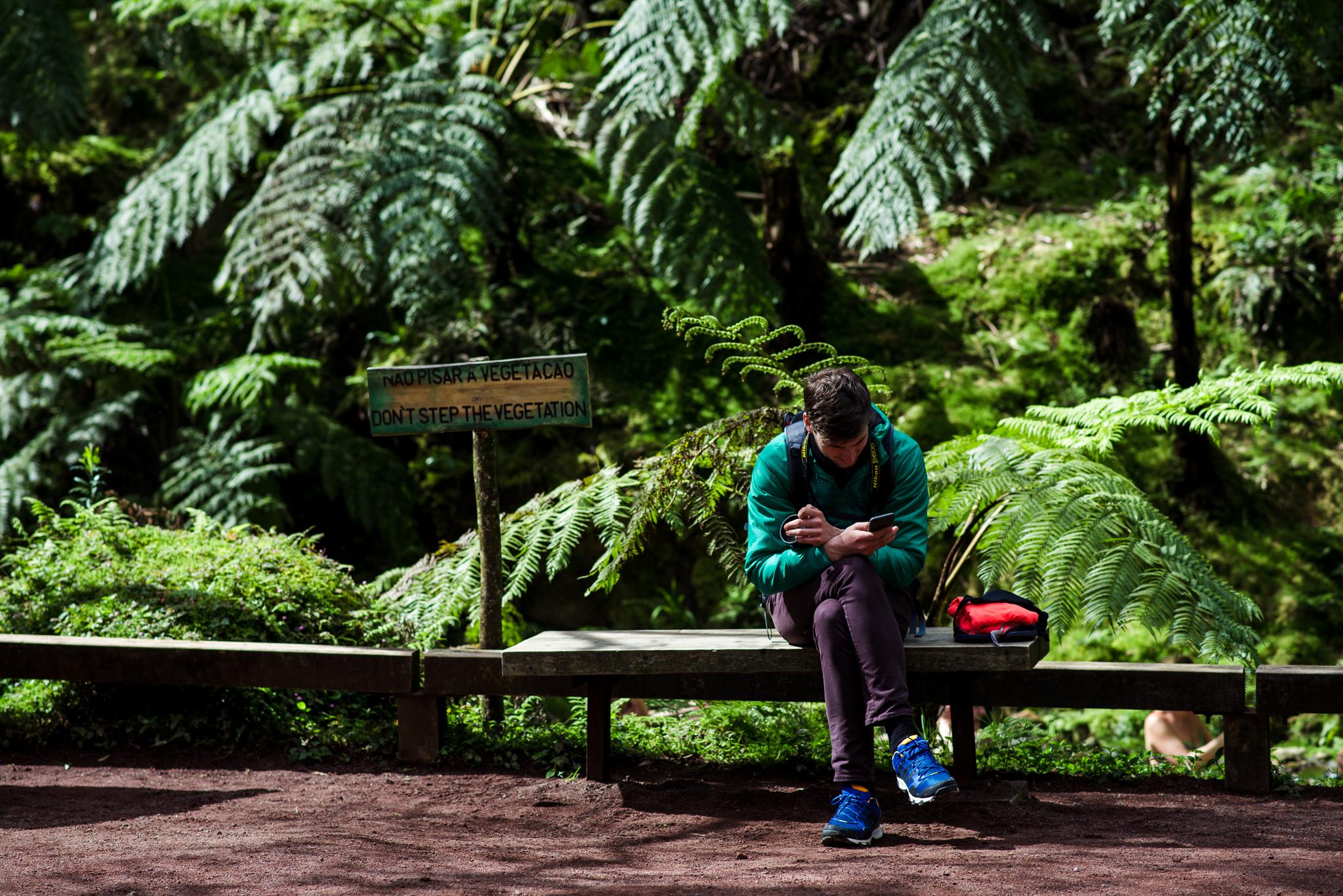 Misi a Caldeira Velha park közepén