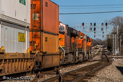 BNSF 5088 | GE C44-9W | BNSF Thayer South Subdivision