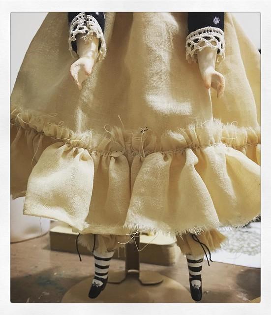 But before the #dress, she is going to need arms. #danita #danitaart #doll #art #dolls #artdoll #artsandcrafts #handmade #wip #inprogress #onmytable #makersgonnamake #paperclay #smallshop #instaart #softsculpture #textileart #dollmaking