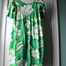 dress hawaiian green barkcloth