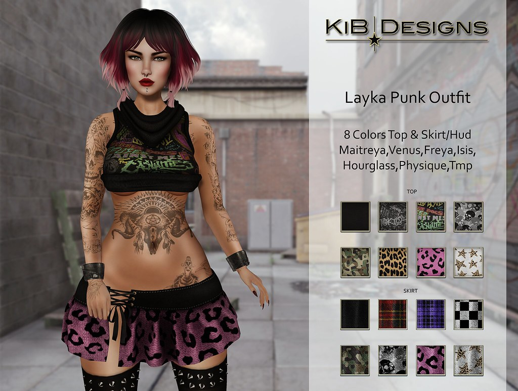 KiB Designs - Layka Punk in The Thrift Shop 15.0 - SecondLifeHub.com
