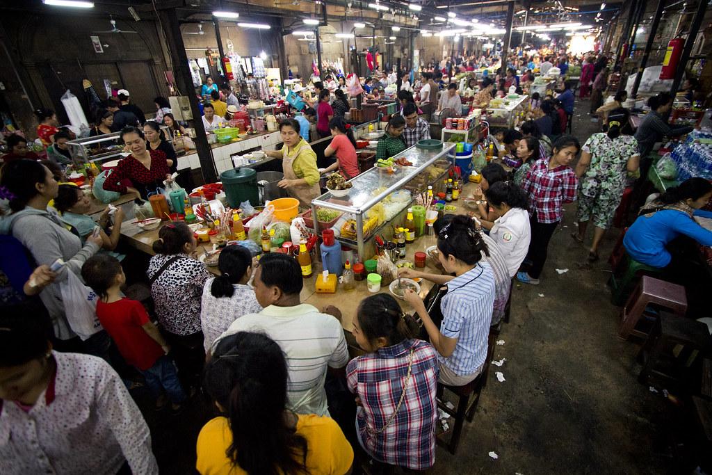 inside Siem Reaps Old Market.