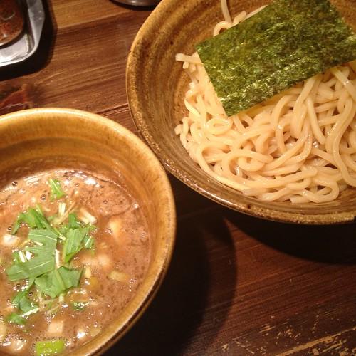 ベジポタ煮干じめつけ麺、冷や盛り / 二代目 えん寺