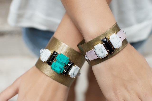 Gem Embellished Cuffs