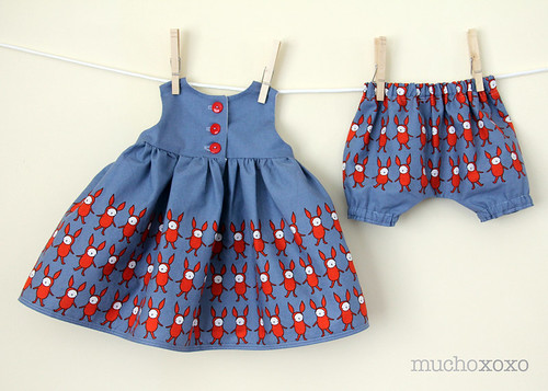 kid's clothes week: little geranium dress