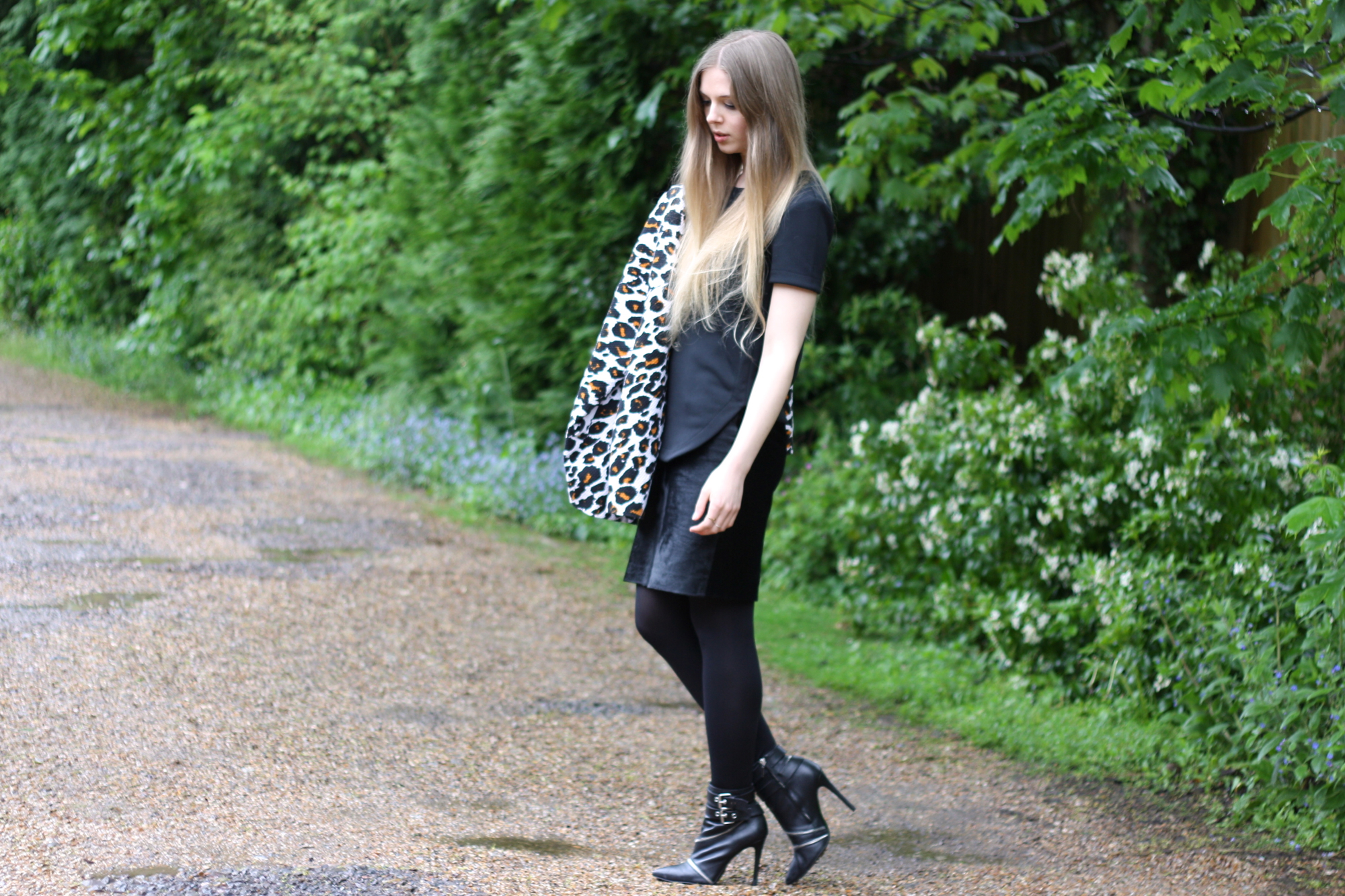 Zara zip ankle boots