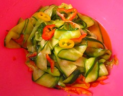 Easy Does It # 13 – Asian Style Pickled Cucumber Ribbons   @ Home by Hans susser
