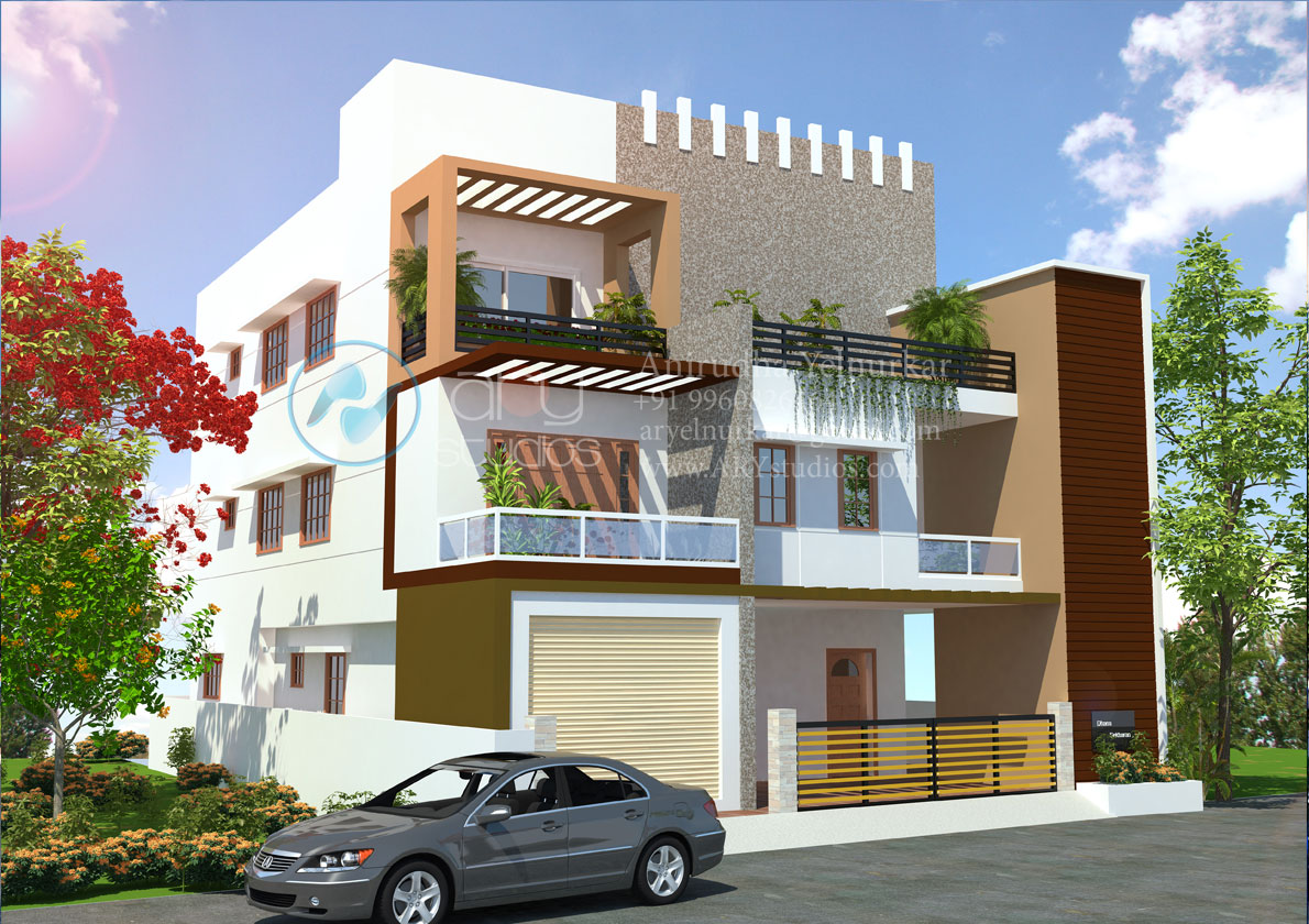 3d+bungalow+rendering+architectural+day+view+realistic+kerala | Flickr ...