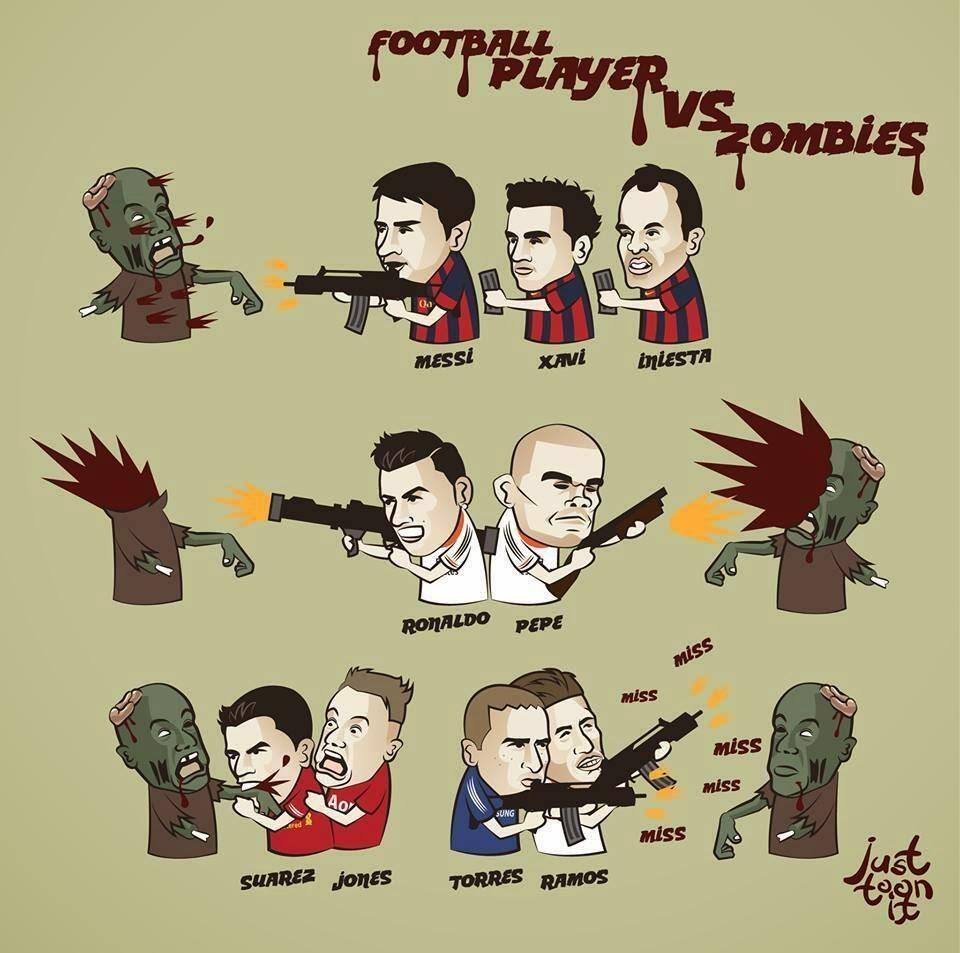 Football players vs Zombies | part. 1 - Football