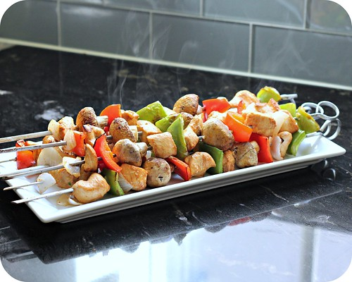 Sriracha Lime Chicken Kebabs