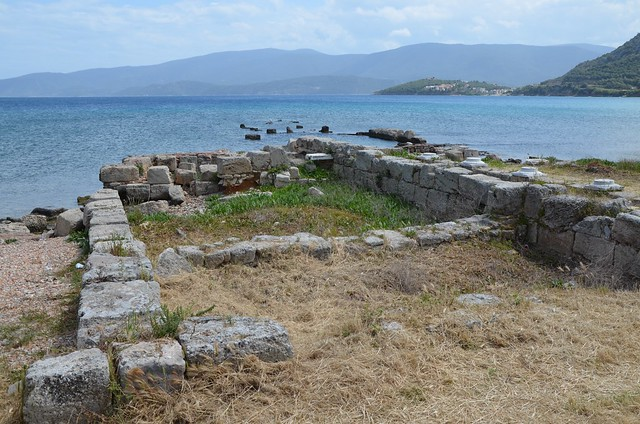 Remains of an early Christian Basilica and Temple of Isis at the ancient harbour at Kenchreai, one of the two ports of the inland city-state of Corinth, Greece