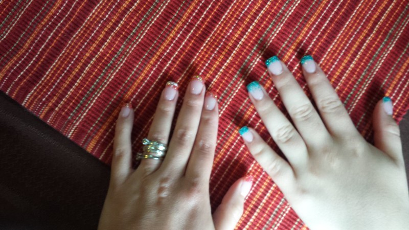 Me and Bre got our nails done this weekend. May 2014.
