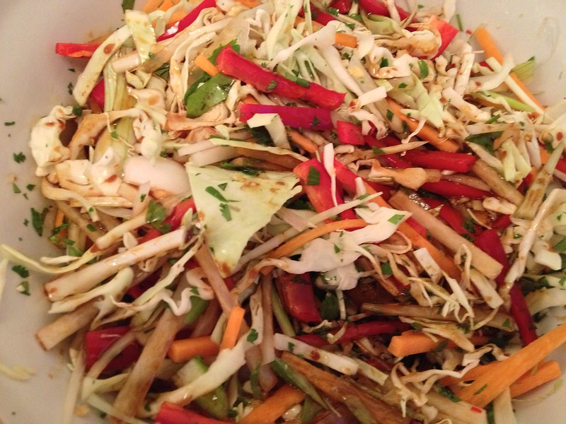 Asian Slaw : Add the Dressing