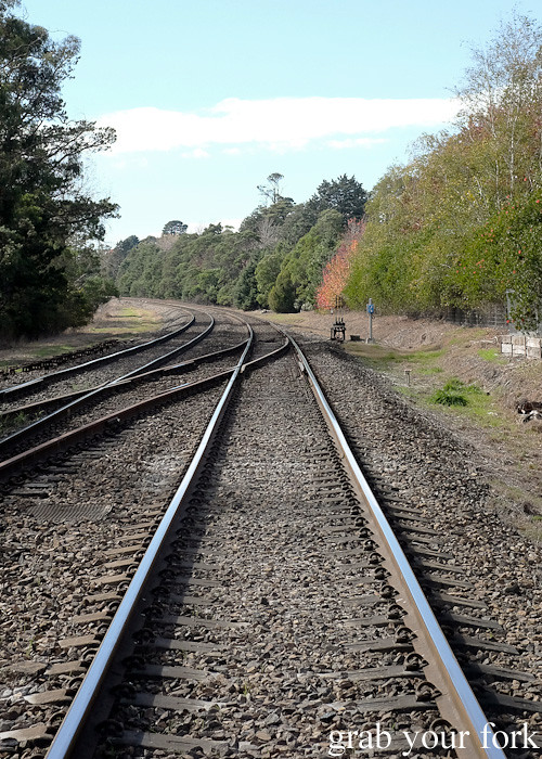 Railway tracks from Bundanoon train station