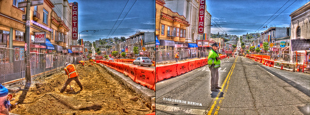 There's Not Much Foot or Automobile Traffic on Castro Street, HDR Montage