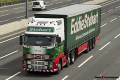 Volvo FH 520 6x2 Tractor with 3 Axle Curtainside Trailer - R80 LWE - H061 - Jodie Leah - Eddie Stobart - M1 J10 Luton - Steven Gray - IMG_5356