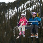 Brooklyn and Abbie on the lift!