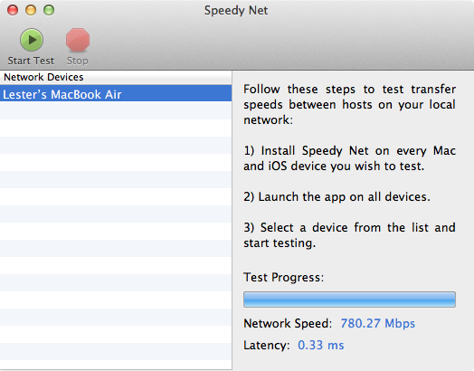 Speedy Net – 1Gbps LAN (iMac) to 1Gbps LAN (MacBook Air)