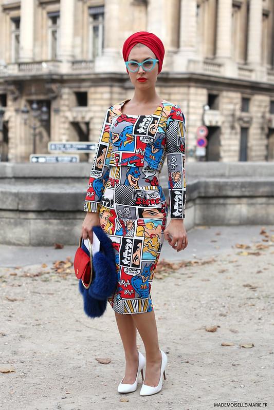 street style eva ana kazic in Paris
