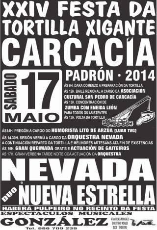 Padrón 2014 - XXIV Festa da Tortilla Xigante en Carcacía - cartel