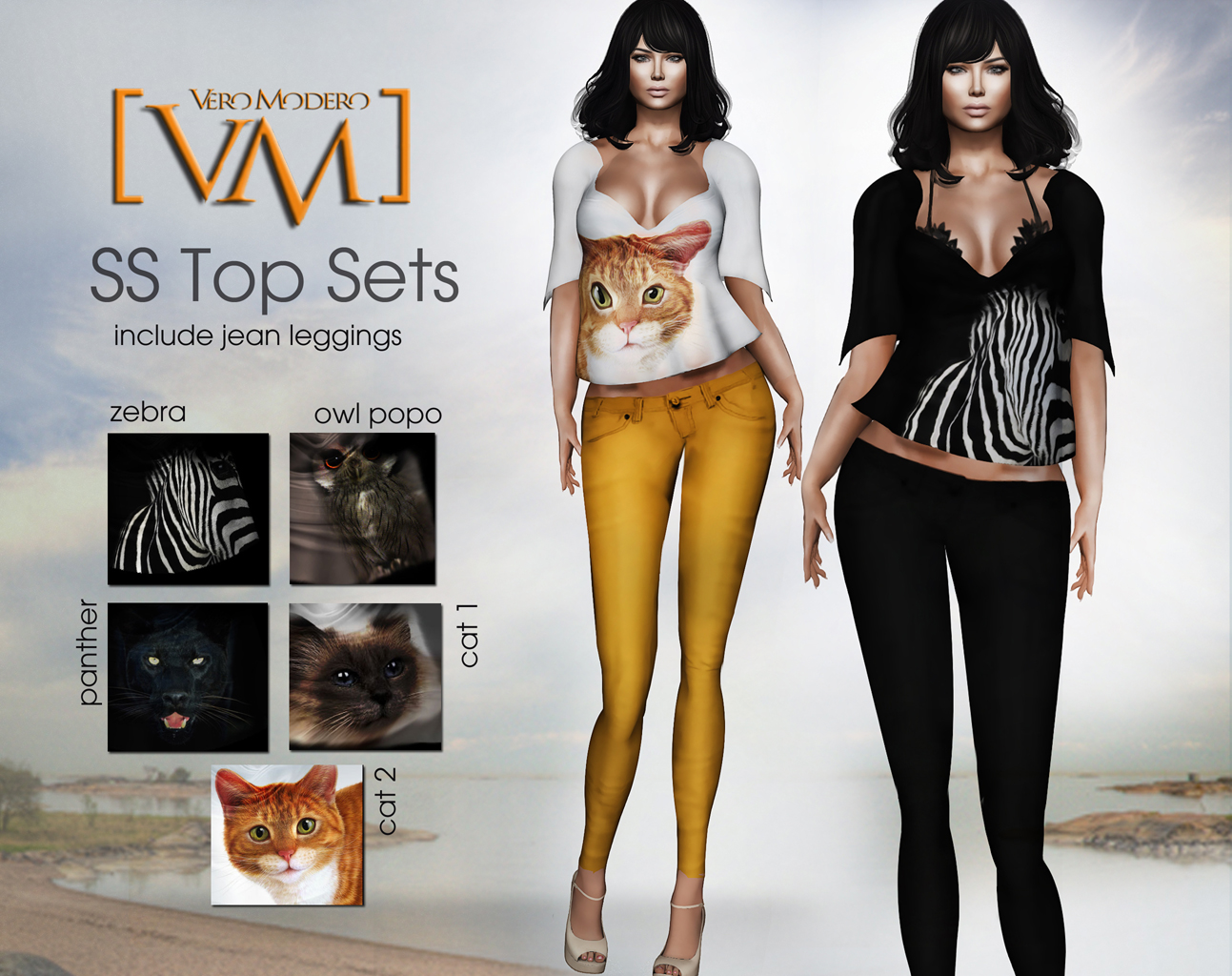 [VM] VERO MODERO  SS Top Sets All Pattern