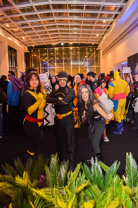 ชาร์ลส์ ซาเวียร์  สองเจนเนอเรชั่นร่วมงานพรีเมียร์  X-Men: Days of Future Past   ที่ประเทศบราซิล
