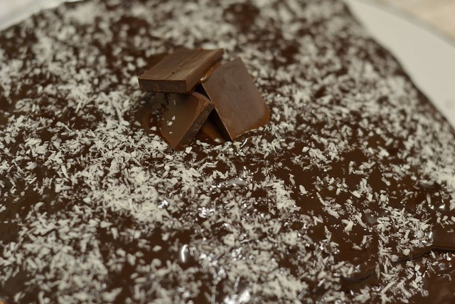 Mum's coconut and chocolate cake recipe