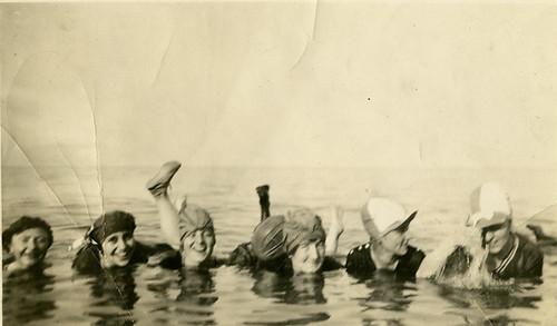 Swimming in the Hamilton Bay. 1920.