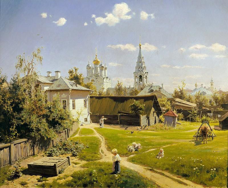 Vasily Polenov - Moscow patio (1878)